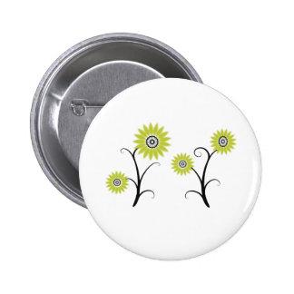 blackyellowsfloral button