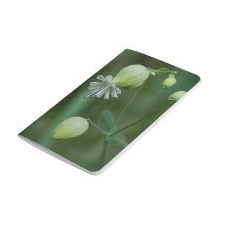 Bladder Campion White Wildflower Pocket Journal