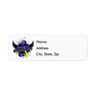 Bladder Cancer Awareness 16 Return Address Label