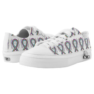 Bladder Cancer Awareness Ribbon Angel Sneakers