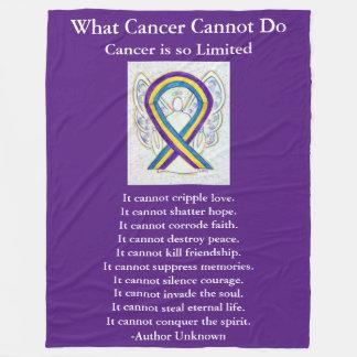 Bladder Cancer Awareness Ribbon Art Chemo Blanket