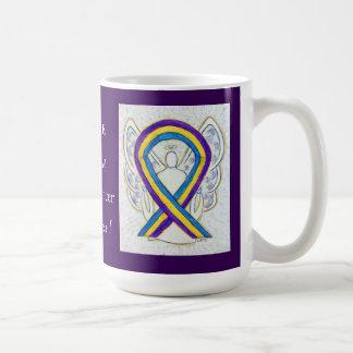 Bladder Cancer Awareness Ribbon Coffee Mugs