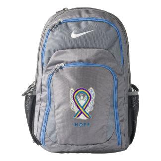 Bladder Cancer Awareness Ribbon Custom Backpack