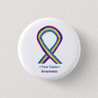 Bladder Cancer Awareness Ribbon Custom Button Pins