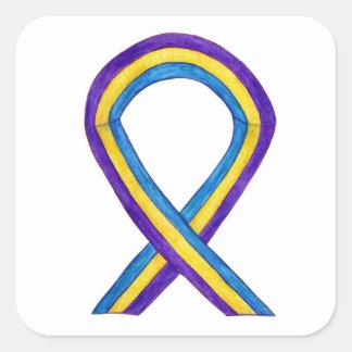 Bladder Cancer Awareness Ribbon Sticker Decals