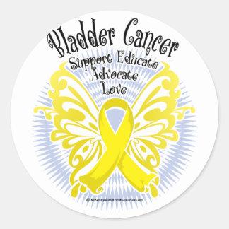 Bladder Cancer Butterfly 3 Classic Round Sticker