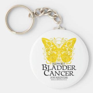 Bladder Cancer Butterfly Keychain