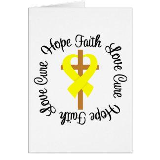 Bladder Cancer Faith Hope Love Cross Greeting Card