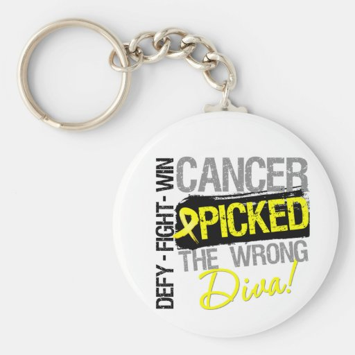 Bladder Cancer Picked The Wrong Diva Key Chain