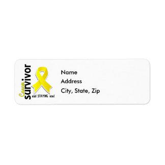 Bladder Cancer Survivor 19 Return Address Label