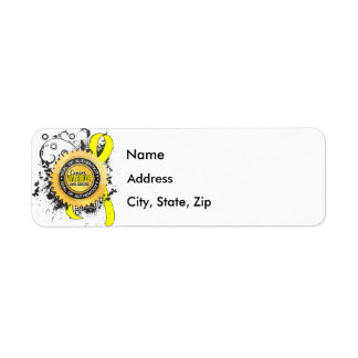 Bladder Cancer Warrior 23 Return Address Label