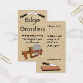 Blade Sharpening Grinding Wheel Business Card