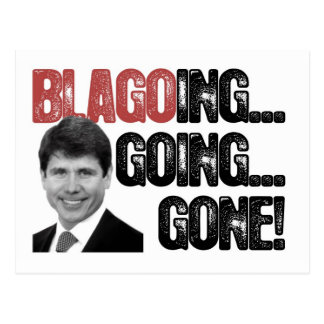Blagoing, Going, Gone! Postcard