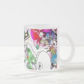 blah 10 oz frosted glass coffee mug