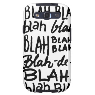Blah Blah Blah Samsung Galaxy S3 Cover