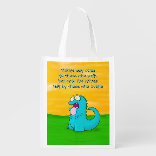 Blah dino, reusable bag reusable grocery bags
