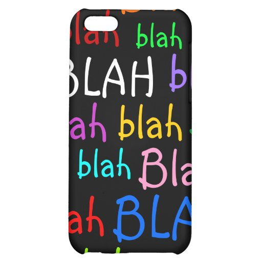 Blah Cover For iPhone 5C