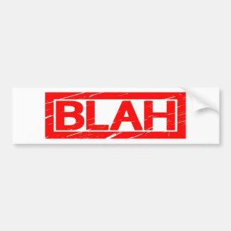 Blah Stamp Bumper Sticker