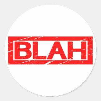 Blah Stamp Classic Round Sticker