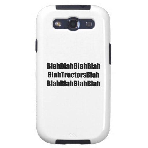 Blah Tractor Blah Tractor Gifts By Gear4gearheads Samsung Galaxy SIII Cover