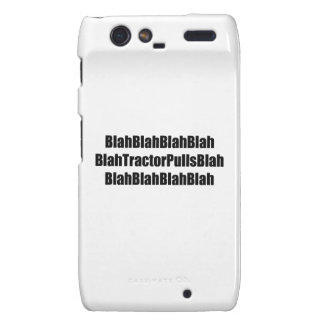 Blah Tractor Pulls Blah Tractor Gifts Droid RAZR Cover