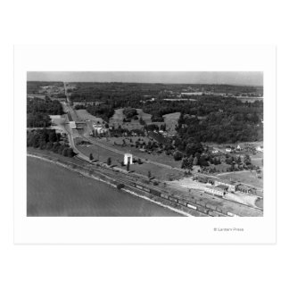 Blaine, WA Birds Eye View and Int. Peace Arch Postcard