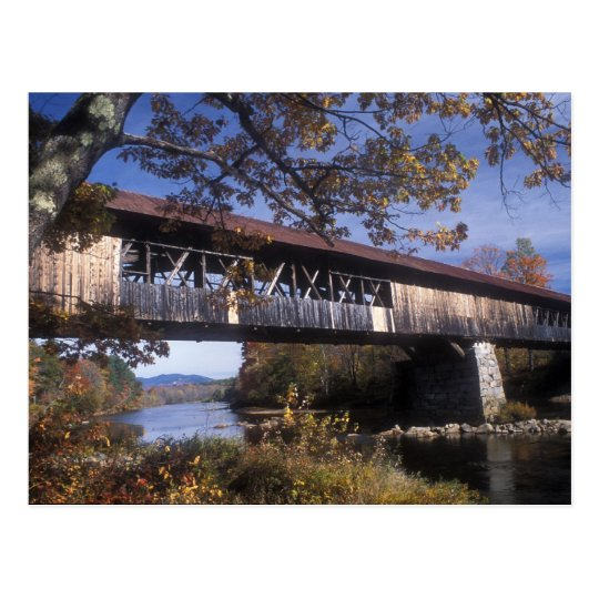 Blair Covered Bridge Campton New Hampshire Postcard