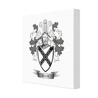Blair Family Crest Coat of Arms Canvas Print