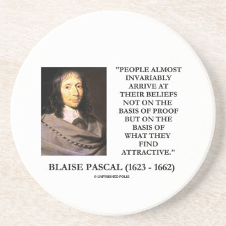 Blaise Pascal Arrive At Beliefs Basis Attractive Beverage Coaster