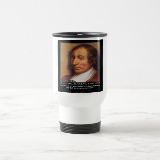 Blaise Pascal Religious Evil Quote Coffee Mug
