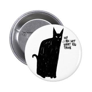 blak cat 2 inch round button