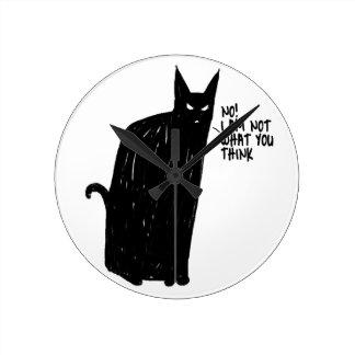 blak cat clocks