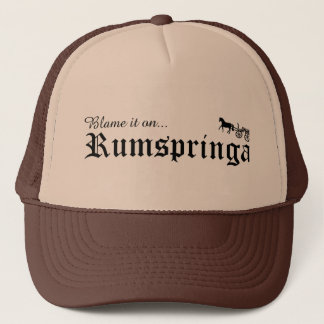 blame it on rumspringa trucker hat