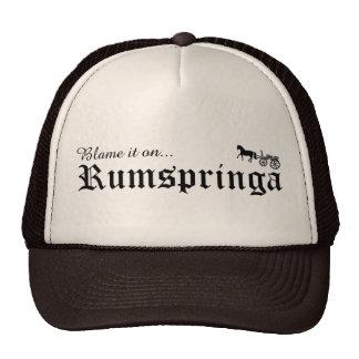 blame it on rumspringa trucker hat