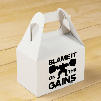 Blame it on the Gains...and treats. Favor Box