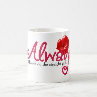 Blame it on the Straight Girl Coffee Mug
