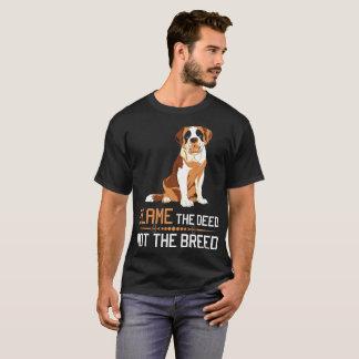Blame The Deed Not The Breed St Bernard Tshirt