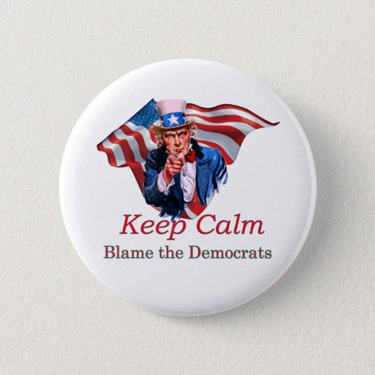 Blame the Democrats 2 Inch Round Button