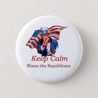 Blame the Republicans 2 Inch Round Button