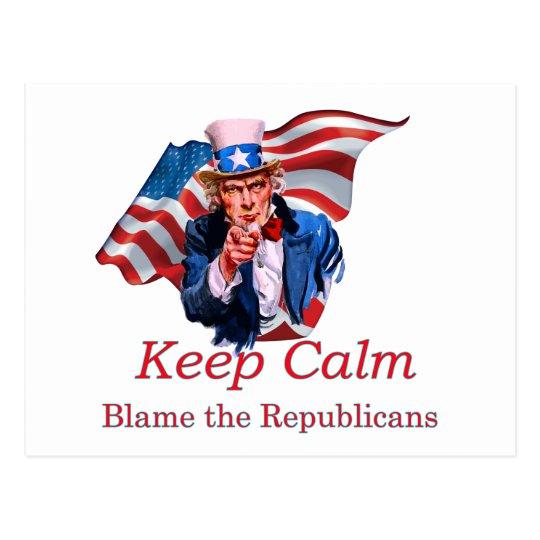 Blame the Republicans Postcard