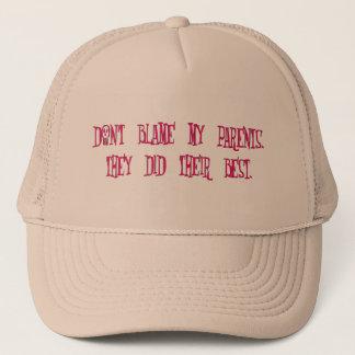 Blame Your Parents (pink) Trucker Hat