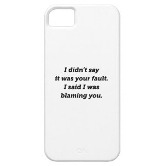 Blaming You iPhone 5 Cover