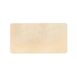 Blanc 1850 de modèle de papier parcheminé de cru étiquette d'adresse