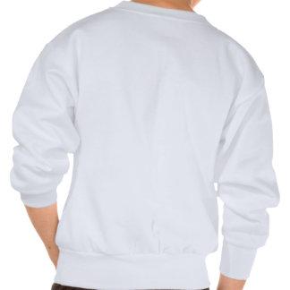 Blanc affectueux de Gris de sauvé de suis de Je Sweatshirt