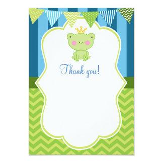 Blanc de carte de remerciements de prince Frog