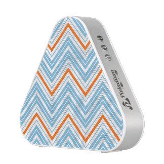 Blanc de motif de zigzag et bleu oranges
