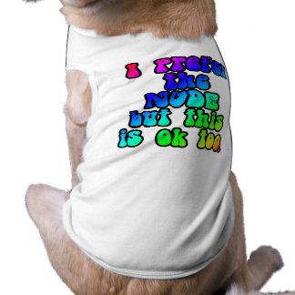 blanc de T-shirt de chien de style des années 60 Vêtement Pour Animal Domestique