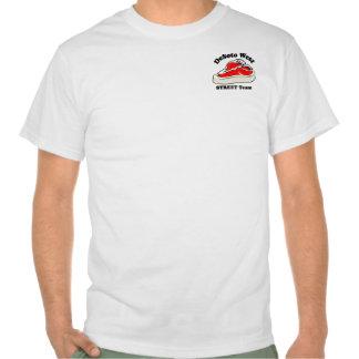 Blanc d'équipe de RUE T-shirts