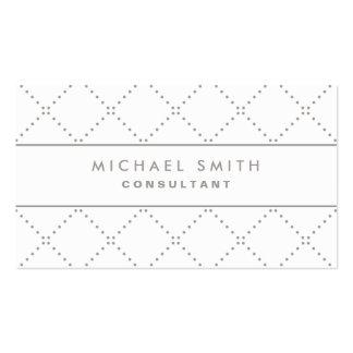 Blanc élégant professionnel Groupon de motif de po Carte De Visite Standard