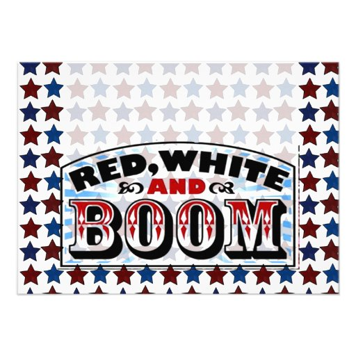 Blanc et boom rouges bristols